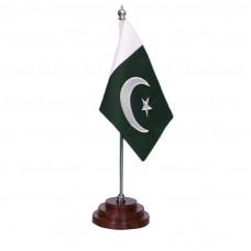 Pakistan table flag, embroidered, executive