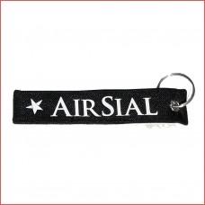 Air Sial, tag, keychain, printed