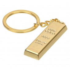 Gold Bar Keychain