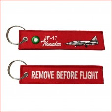 JF17 remove before flight tag, embroidery