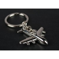 Airplane Keychain, metal