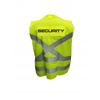 SECURITY reflector jacket, front pocket and zip