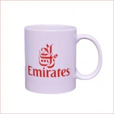 Emirates logo mug, both sides printing