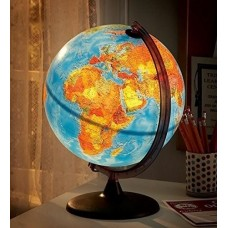 World Globe, Light inside, 25cm