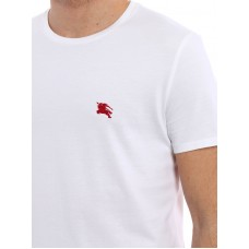 White T Shirt with POLO horse logo in red