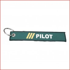 Pilot luggage tag, printed, both sides