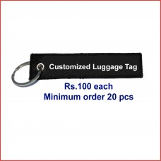 Customized luggage tags, printed, double sided, green, 20 pcs