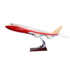 Boeing 747 with boeing livery, 45cm size with base