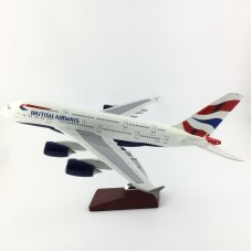 British Airways A380 model 40cm with stand