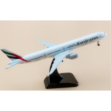 Emirates B777 model, 20cm, metal with stand