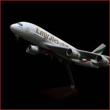 Emirates Airline models with lights, 45cm, stand, Landing gears