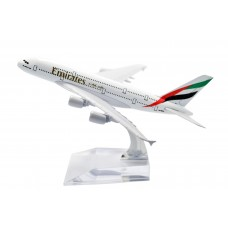 Emirates A380 model, 16cm, metal, with stand