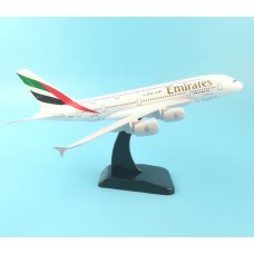 Emirates A380, 18cm, metal with stand