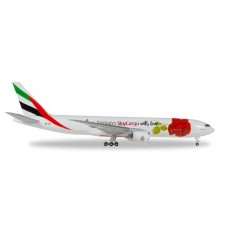 EMIRATES SKYCARGO A6-EFL, 'WITH LOVE | HERPA WINGS 1:500 | BOEING 777F