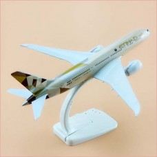 Etihad A380, 18cm, metal with stand