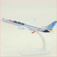 Fly Dubai model, 16cm, metal, with stand