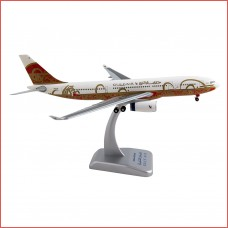 Gulf Air 50th Anniversary Airbus 330-200 Airplane Model A40-KF With Stand 1:200 Scale Hogan Wings 0465GR