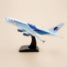 Malaysian Airways A380, 18cm, metal body with stand