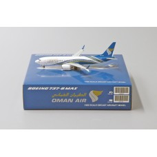 OMAN AIR BOEING 737-800MAX  A4O-MA,  (JC WINGS  LH4087 ) scale 1:400