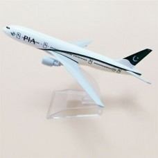 PIA B777 model, 16cm, metal, with stand