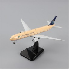 Saudia B777 model, 18cm, metal with stand