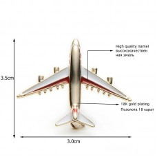Alloy airplane brooch