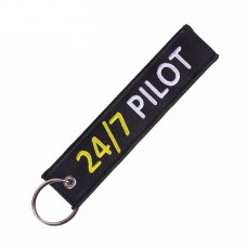 24/7 Pilot Tag, embroidery keychain