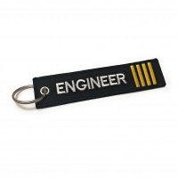 Engineer Tag, Embroidery keychain, double side