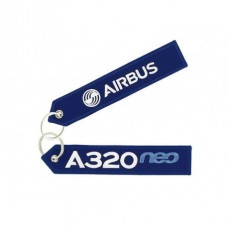 Airbus A320 NEO tag, embroidery keychain
