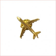 Airplane Lapel Pin, Golden Colour, 1 inch