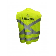 Airbus safety reflector jacket, front pocket and zip