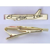 Tie Pin, Golden, airplane theme, pilot gift