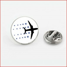 Airplane Flying mode, lapel pin, coat pin, butterfly clutch