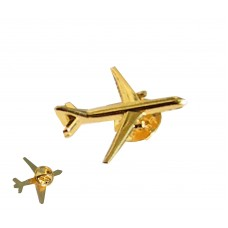 Airplane Lapel Pin | pilot badge | Golden | 1 inch
