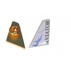 Aviator Lapel Pin, Tail Style. 2.5cm height