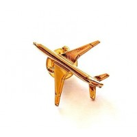 Airplane Lapel Pin,B777, Golden, 1 inch