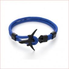 Anchor Bracelets Men Women Charm Rope Chain Couple Bracelet Metal Airplane Blue