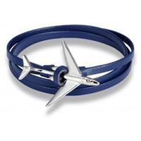 Airplane Anchor Bracelet charm Wrap multilayer Rope leather Bracelets For Men Women Navy Style Wrap Metal Sport Hooks