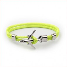 Airplane Anchor Bracelets Men Charm Rope Green