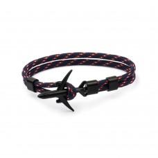 Airplane Anchor Bracelets Men Charm Rope Chain Paracord Bracelet Male Women Air Force style Wrap Metal Sport Hook