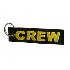 CREW Tag, Embroidery keychain, double side