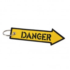 Danger Embroidery Tag, keychain, safety