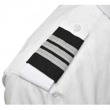 Epaulettes for uniform, pair, 3 white bars
