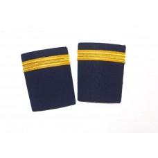 Epaulets Golden for pilots 1 strip, pair
