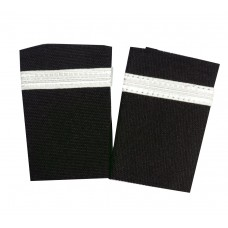 Epaulettes for uniform, pair, 1 white bars