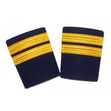 Epaulets Golden for pilots 2 strip, pair