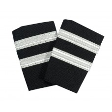 Epaulettes for uniform, pair, 2 white bars