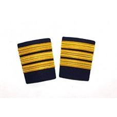Epaulets Golden for pilots 3 strip, pair