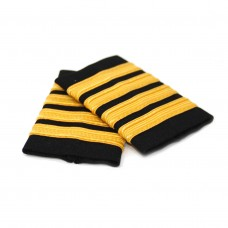 Epaulets Golden for pilots 4 strip, pair