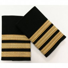 epaulettes 3 bars golden, pair